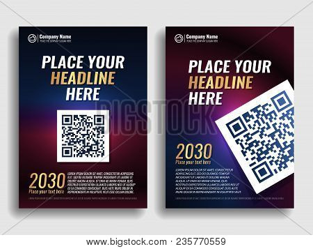 Collection Of Covers With A Blue Red Gradient. Template For A Book, Magazine, Banner, Flyer, Invitat
