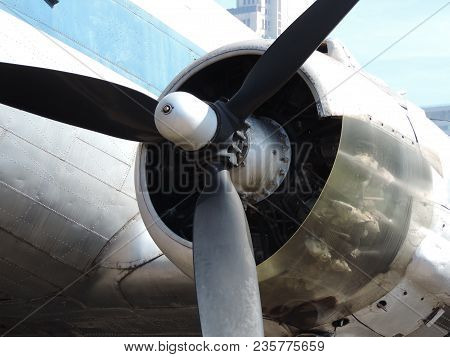 Details Of A Turbo Propeller Type Airplane