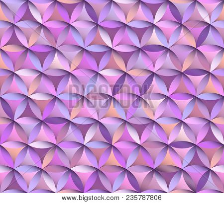 Flower Of Life Seamless Pattern In Pink And Purple Colours