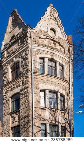 Fragment Of Art Architecture Style Riga City