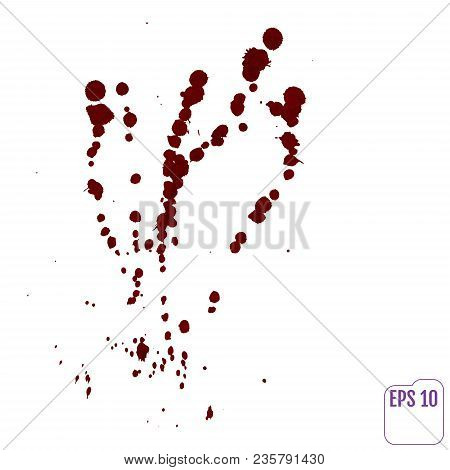 Blood Drip. Vector Red Ink Stain