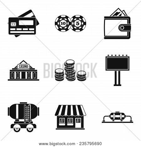 Amount Of Money Icons Set. Simple Set Of 9 Amount Of Money Vector Icons For Web Isolated On White Ba