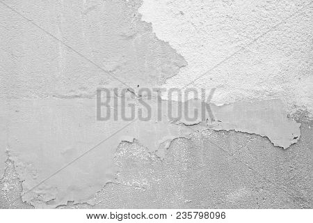 Marble Texture. Marble Background. Empty Gray And White Background From The Old Wall Of The Building