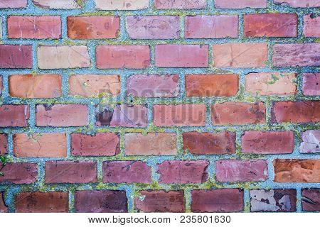 Brick Wall Background, Wall Texture, Vintage Brick  Weathered Brick Wall