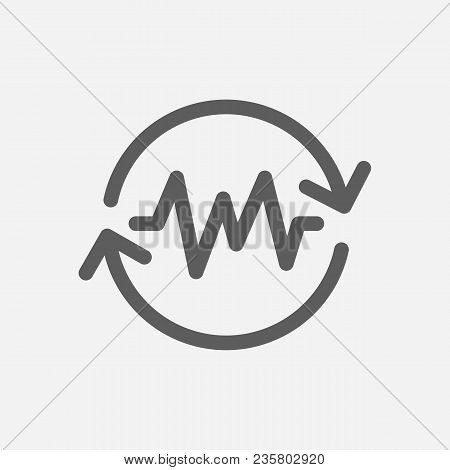 Non-stop Action Icon Line Symbol. Isolated Vector Illustration Of  Icon Sign Concept For Your Web Si