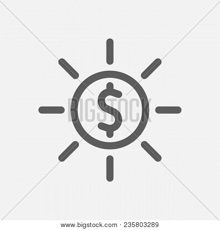 Profit Icon Line Symbol. Isolated Vector Illustration Of  Icon Sign Concept For Your Web Site Mobile