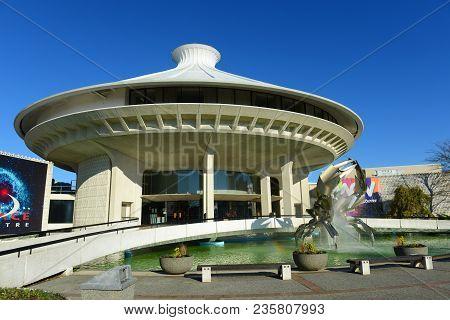 Vancouver - Nov 11, 2014: H. R. Macmillan Space Centre In Vanier Park, Vancouver, British Columbia,