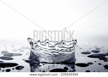 Water Splash / Mineral Water Is Water From A Mineral Spring That Contains Various Minerals, Such As