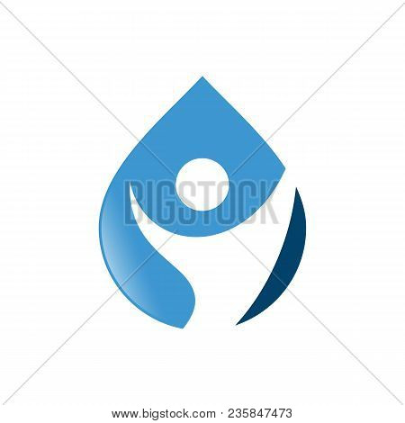 Water Drop With Human Icon Vector Logo Design Template.world Water Day Icon.world Water Day Idea Cam