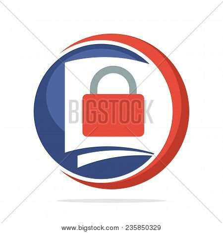 Icon Logo With The Concept, Protection Of Confidential Document