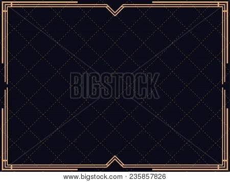 Art Deco Frame Vector Photo Free Trial Bigstock