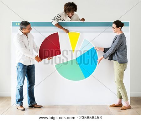 People with internet browser mockup