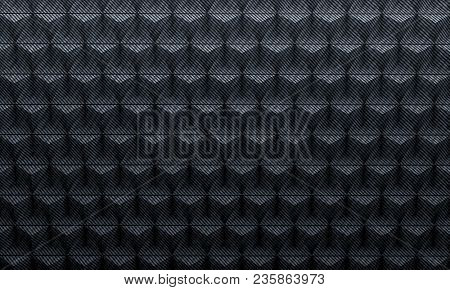 triangle shape geometric carbon background 3d rendering image