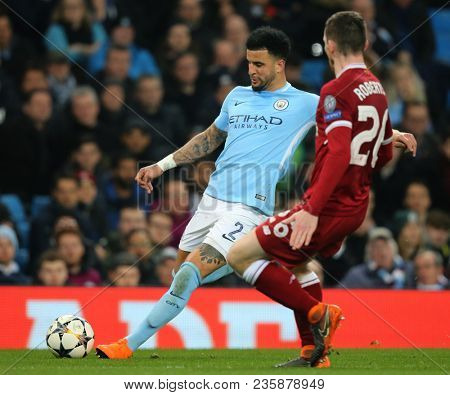 MANCHESTER, ENGLAND - APRIL 10:   during the Champions League quarter final leg two match between Manchester City and Liverpool at The City of Manchester Stadium on April 10, 2018