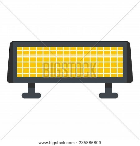 Panel Heater Icon. Flat Illustration Of Panel Heater Vector Icon For Web