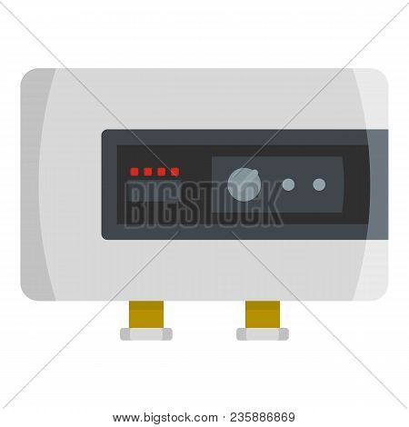 Power Heater Icon. Flat Illustration Of Power Heater Vector Icon For Web