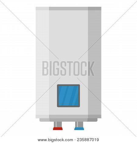 Central Boiler Icon. Flat Illustration Of Central Boiler Vector Icon For Web