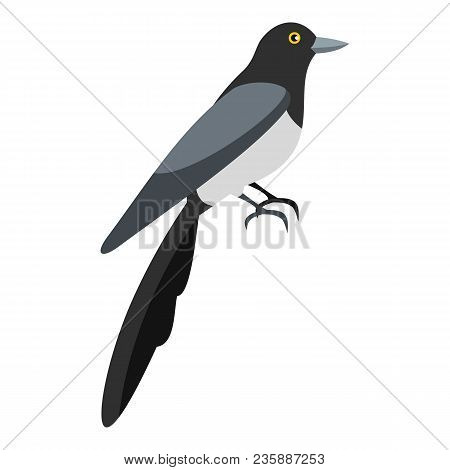 Magpie Icon. Flat Illustration Of Magpie Vector Icon For Web