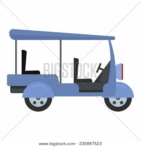 Tourism Taxi Icon. Flat Illustration Of Tourism Taxi Vector Icon For Web