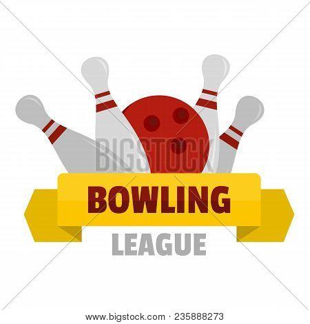 Bowling Logo. Flat Illustration Of Bowling Vector Logo For Web