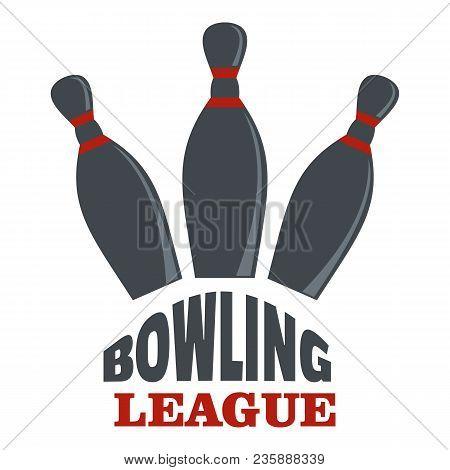 Bowling League Logo. Flat Illustration Of Bowling League Vector Logo For Web
