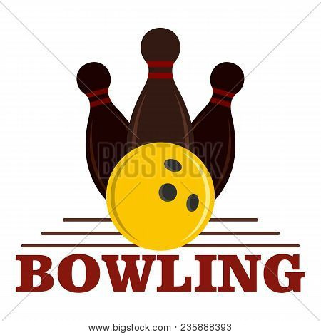 Bowling Game Logo. Flat Illustration Of Bowling Game Vector Logo For Web