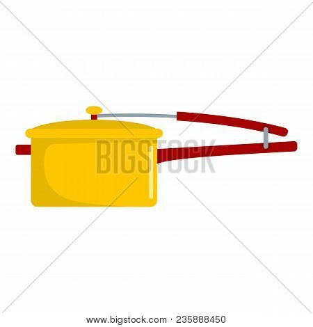 Cooking Pan Icon. Flat Illustration Of Cooking Pan Vector Icon For Web