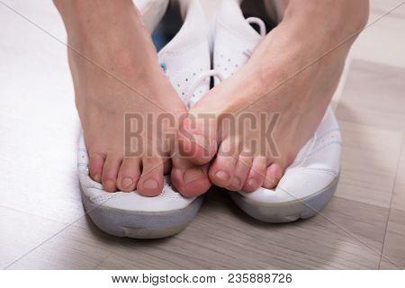 Woman's Leg Over Footwear