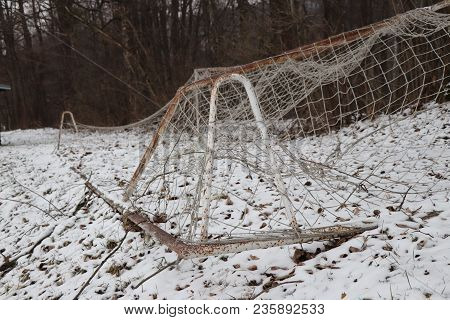 The Practise Footbal Net Ready For Training. Now Everyone Can Give A Goal