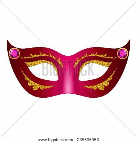 Face Mask Icon. Realistic Illustration Of Face Mask Vector Icon For Web