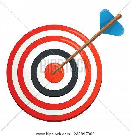 Perfection Target Icon. Cartoon Illustration Of Perfection Target Vector Icon For Web