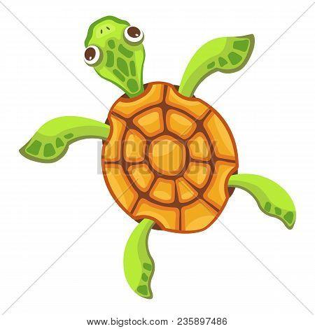 Sea Turtle Icon. Cartoon Illustration Of Sea Turtle Vector Icon For Web