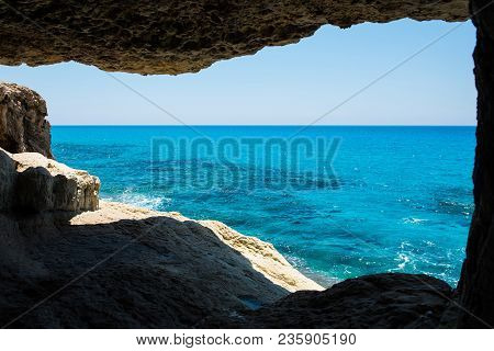 Sea Caves Near Ayia Napa, Mediterranean Sea Coast, Cyprus