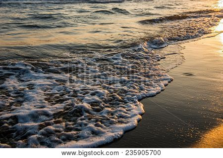 Waves Approaching Sandy Beach