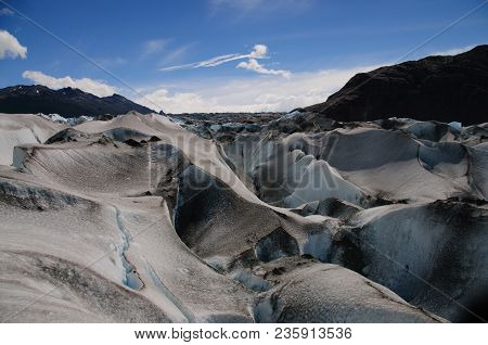 Viedma Forms One Of The Largest Glaciers In The Santa Cruz Province In Argentina.