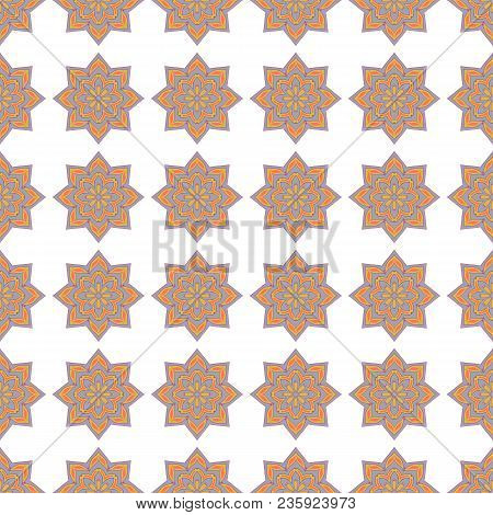 Background With Seamless Pattern In Islamic Style. Abstract Vintage Wallpaper Pattern Seamless Backg