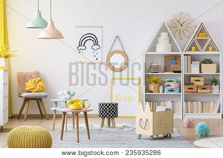 Colorful Kid's Playroom Interior