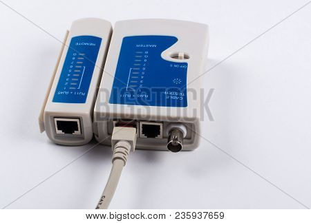 Cable tester for network cables RJ45 und RJ11 poster