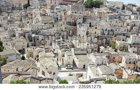Houses Of Matera On The Hill - European Capital Of Culture