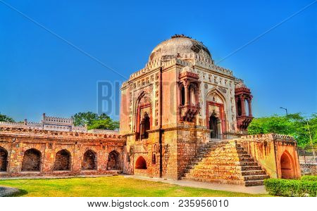 Madhi Mosque In Mehrauli Archaeological Park In Delhi, The Capital Of India
