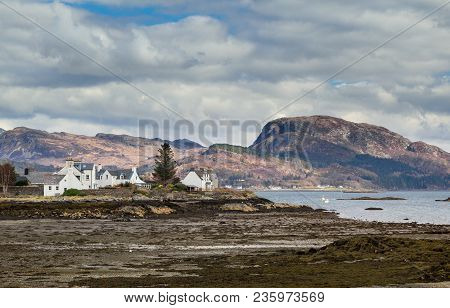 Village Of Plockton In The Highlands Of Scotland, In The County Of Ross And Cromarty