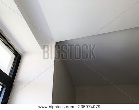 Interior In Construction And Wall Decoration At Building Site.