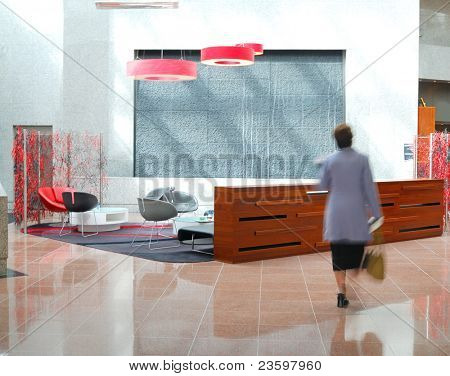 stylish interior in office building