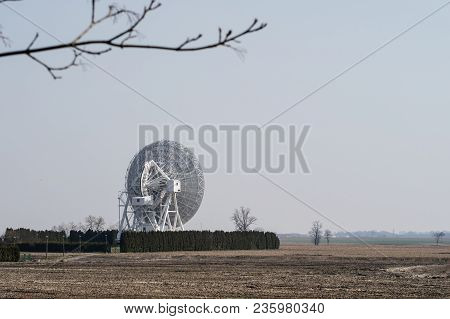 Antenna In The Astronomical Observatory. Space Observation Devices In A Science Center. Season Of Th