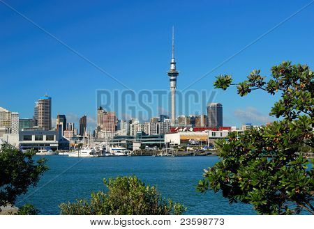 Yacht bei Auckland habor