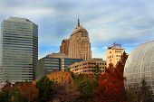 Landscape of Oklahoma City Skyline in the fall poster