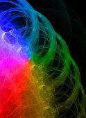 Laser light background. poster