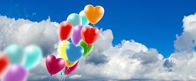 Image Of Balloons Against Sky  Background  Close-up