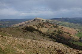 Hillsides Surrounding Mam Tor (derbyshire, England, Uk)