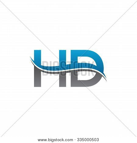 Hd Letter Type Logo Design. Hd Logo Vector Template. Creative Hd Logo. Letter Hd Logo.